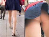 【逆さバレ】ノーパン!?超絶美脚お姉様の衝撃的な中身と壮絶なバレ【スマホ対応】 売れ戦闘力 727